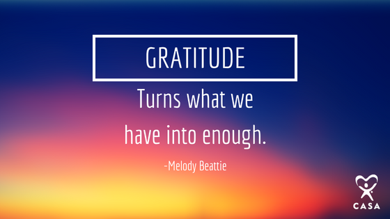 Gratitude, turns what we have into enough