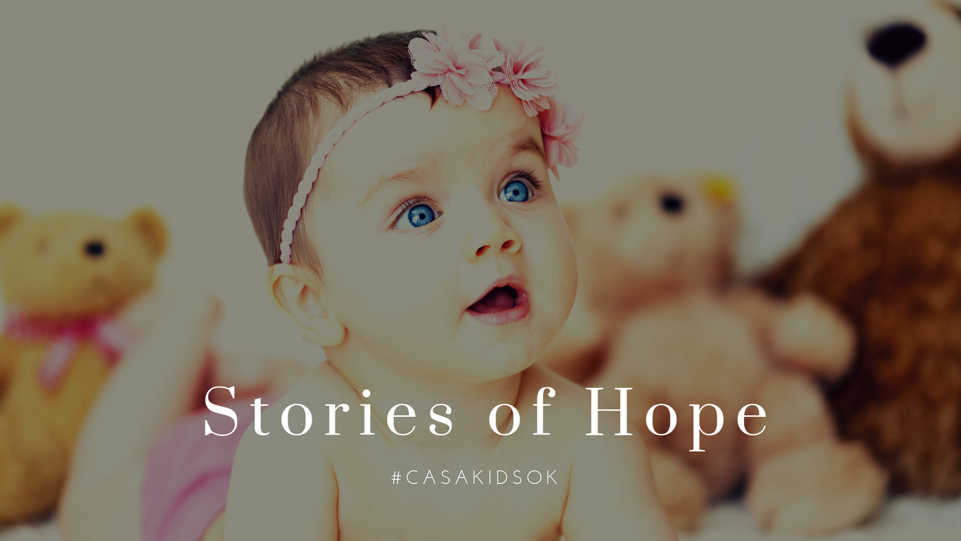 Baby Girl with Story of Hope Headline