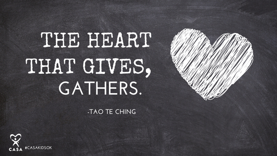 The heart that gives, gathers.
