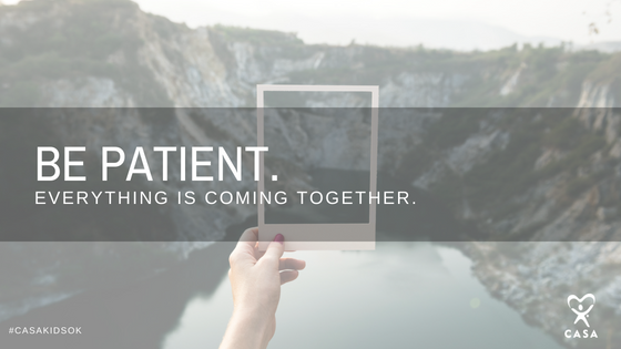 Be patient. Everything is coming together.